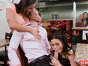 SCAM ANGELS - Karlee Grey and Gina Valentina group hump